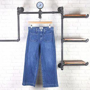 PAIGE Nellie Culotte Marabella Wide Leg Jeans Blue